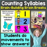 Counting Syllables with Brain Breaks, Movement Google Slid