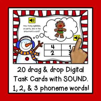 counting syllables with christmas words digital boom task cards no prep - Christmas Words That Start With S