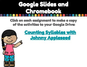 Counting Syllables with Johnny Appleseed (Compatible with Google Apps)