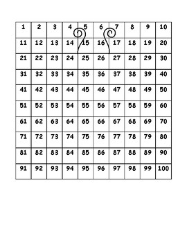 Counting Tallies/Number Grid Butterfly Coloring Page