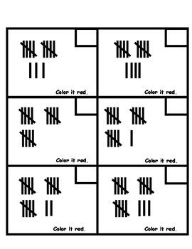 Counting Tallies/Number Grid Coloring