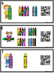 Counting Tally Marks 1-20 Crayons (QR Code Optional)