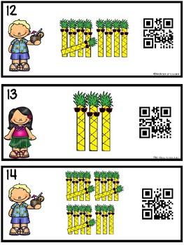 Counting Tally Marks 1-20 Hawaiian Day