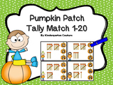 Counting Tally Marks 1-20 Pumpkin Patch Clip Cards