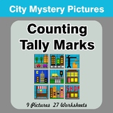 Counting Tally Marks - Math Mystery Pictures / Color By Nu