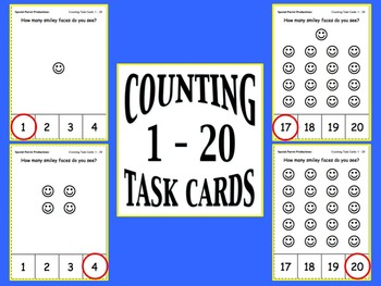 Counting Task Cards (1 - 20)