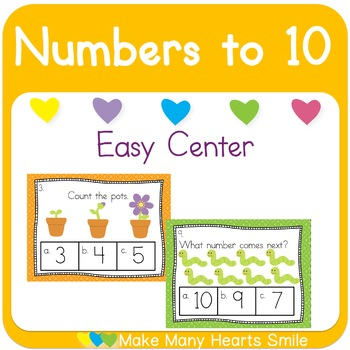Numbers 1-10: Counting Task Cards