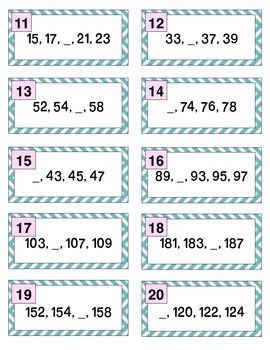 Counting Task Cards - Cartes de tache - SCOOT