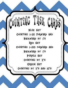 Counting Task Cards - Counting by 1's, 2's, 5's, 10's - Common Core Aligned