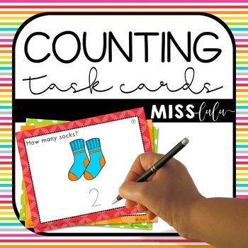 Counting Task Cards {Differentiated for 3 Levels}