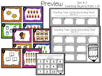 Counting Task Cards Kindergarten
