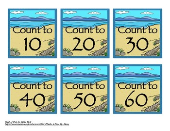 Counting Task Cards - Ocean Theme