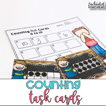 Kindergarten Task Cards: Counting to 10, Counting to 20