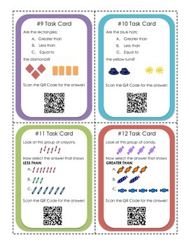 Counting Task Cards and QR Codes