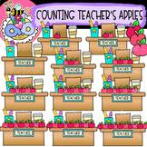 Counting Teacher's Apples: Back-to-School Clipart {DobiBee