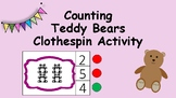 Counting Teddy Bears Clothespin Center Activity