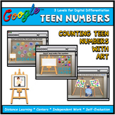 Counting Teen Numbers with Art Interactive Math Digital Go