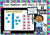 Counting Teen Numbers with Base Ten Blocks  ~ BOOM Cards ~