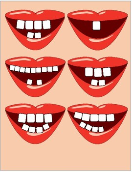 Counting Teeth file folder game