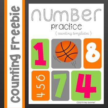 Counting Templates for Number Identification & Practice {1-10}