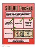 Counting Ten Dollar Bills Money Math Packet