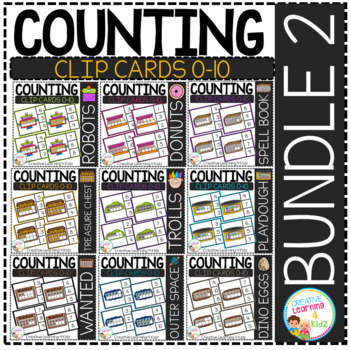 Counting Ten Frame Clip Cards 0-10: BUNDLE 2