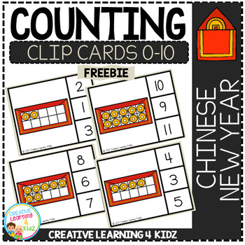 Counting Ten Frame Clip Cards 0-10: Chinese New Year