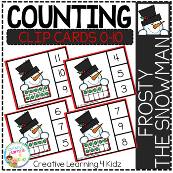 Counting Ten Frame Clip Cards 0-10: Christmas