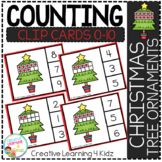 Counting Ten Frame Clip Cards 0-10: Christmas Tree