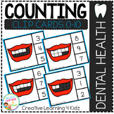 Counting Ten Frame Clip Cards 0-10: Mouth Dental Health
