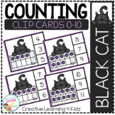 Counting Ten Frame Clip Cards 0-10: Halloween Black Cat