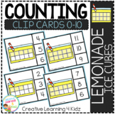 Counting Ten Frame Clip Cards 0-10: Lemonade Ice Cube