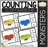 Counting Ten Frame Clip Cards 0-10: Monster
