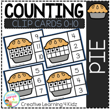 Counting Ten Frame Clip Cards 0-10: Pie