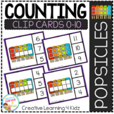 Counting Ten Frame Clip Cards 0-10: Popsicles
