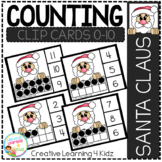 Counting Ten Frame Clip Cards 0-10: Santa Claus Christmas