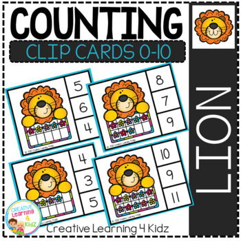 Counting Ten Frame Clip Cards 0-10: Spring Animals Bundle