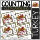 Counting Ten Frame Clip Cards 0-10: Thanksgiving Bundle