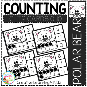 Counting Ten Frame Clip Cards 0-10: Winter