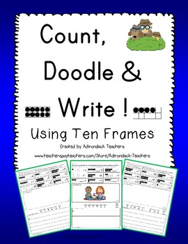 Counting Ten Frames, Doodle and Write School Stuff  A-Z