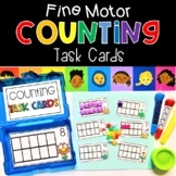 Fine Motor Counting Ten Frames Task Cards Math Activities