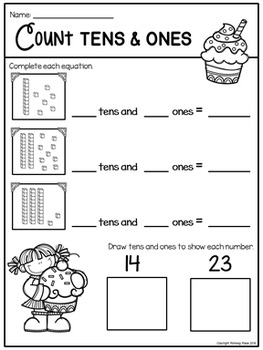 Counting Tens and Ones - Bakery {Freebie}