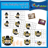 Counting Thanksgiving Corn Clip Cards (0 - 10)