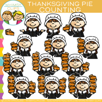 Counting Thanksgiving Pie Clip Art