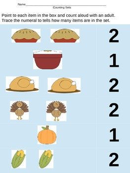 Counting Thanksgiving Sets Trace Numeral