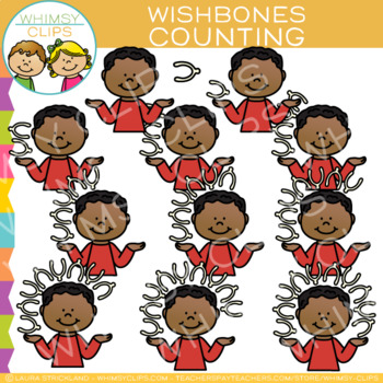 Counting Thanksgiving Wishbones Clip Art