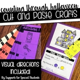 Counting Through Halloween - No Prep Cut and Paste Crafts