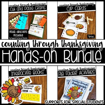 Counting Through Thanksgiving - Hands on Counting Bundle