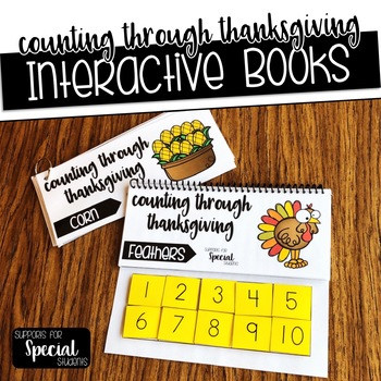 Counting Through Thanksgiving - Interactive Books for Numbers 1-10