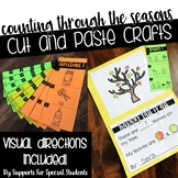 Counting Through the Seasons - No Prep Cut and Paste Crafts